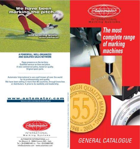 marking machines general catalogue