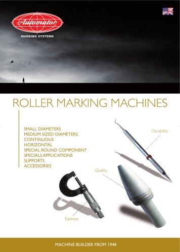 Roller marking machines