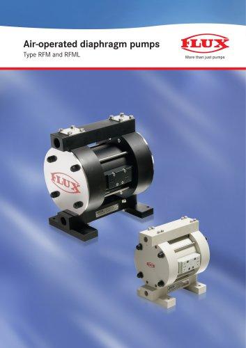 Air-operated diaphragm pumps RFM-RFML