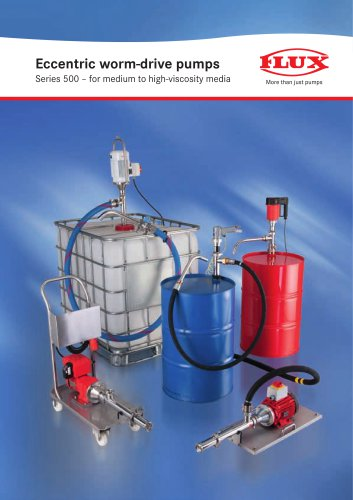 Eccentric worm-drive pumps for low to high-viscosity media