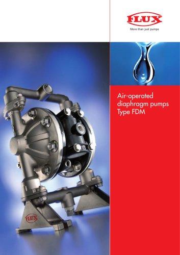 FLUX Air-operated diaphragm pumps FDM