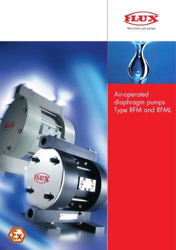 FLUX Air-operated diaphragm pumps RFM/RFML