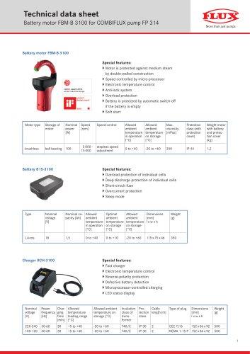 FLUX Drum pump COMBIFLUX FP 314 data sheet