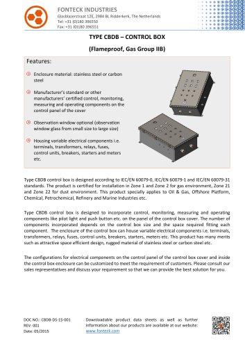 CBDB Control Box Data Sheet-Fonteck