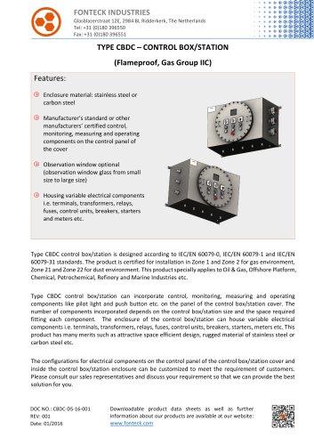 CBDC Control Box Data Sheet-Fonteck