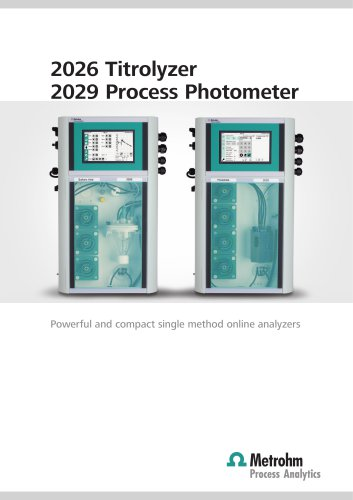 2026 Titrolyzer 2029 Process Photometer