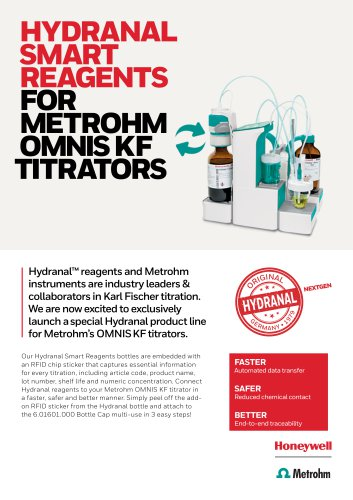 HYDRANAL  SMART  REAGENTS  FOR  METROHM  OMNIS KF TITRATORS