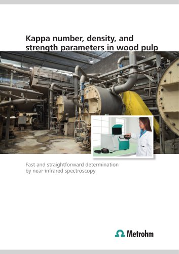 Kappa number, density, and strength parameters in wood pulp