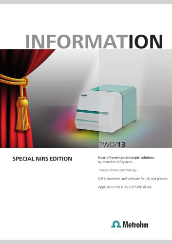 Metrohm Information: Special NIRS Edition