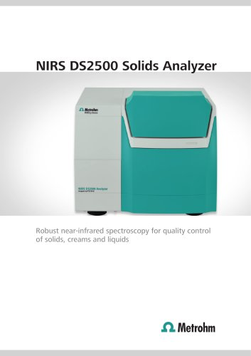 NIRS DS2500 Solids Analyzer