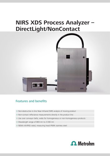 NIRS XDS Process Analyzer - DirectLight/NonContact