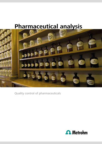 Pharmaceutical analysis – Quality control of pharmaceuticals