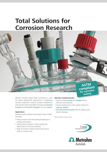 Total Solutions for Corrosion Research