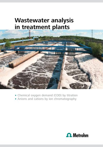 Wastewater analysis in treatment plants