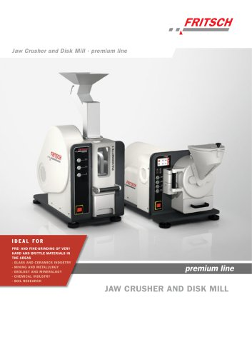 Jaw Crushers and Disk Mill premium line - PULVERISETTE 1 premium line - PULVERISETTE 13 premium line