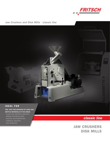 Jaw Crushers and Disk Mills classic line