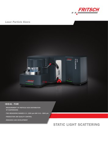 Laser Particle Sizers ANALYSETTE 22 NeXT