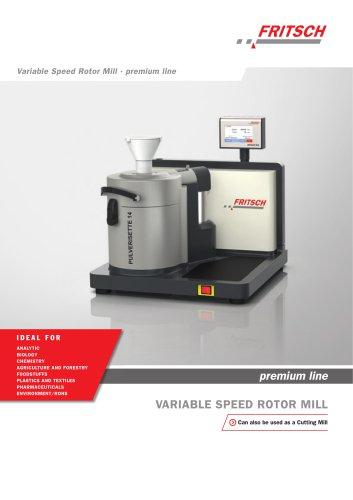 Variable Speed Rotor Mill PULVERISETTE 14 premium line