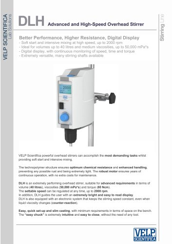DLH Advanced and High-Speed Overhead Stirrer