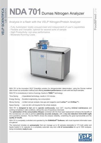 NDA 701Dumas Nitrogen Analyzer