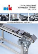 SPU 2040 Accumulating Pallet Recirculation Systems