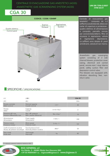 CGA 30 MEDEVICE system