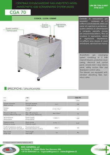 CGA 70 MEDEVICE system