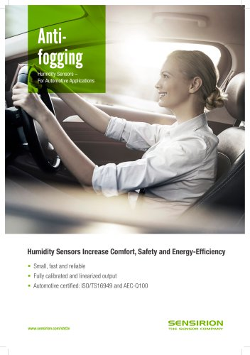 Antifogging Humidity Sensors