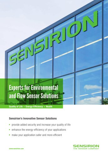 Experts for Environmental and Flow Sensor Solutions