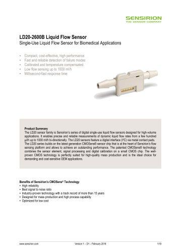 Liquid Flow Sensor LD20