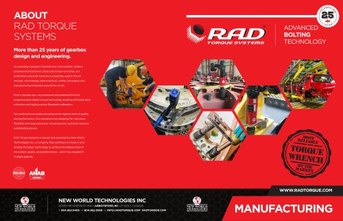 RAD Manufacturing Brochure