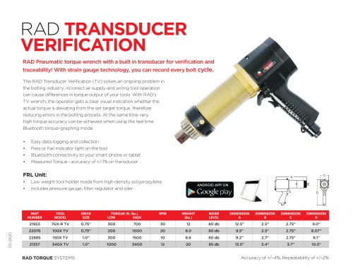 RAD Transducer Verification (Imperial)