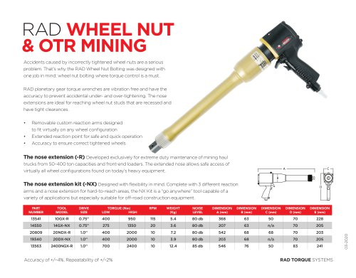 RAD Wheel Nut & OTR Mining (Metric)