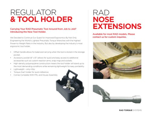 REGULATOR & TOOL HOLDER
