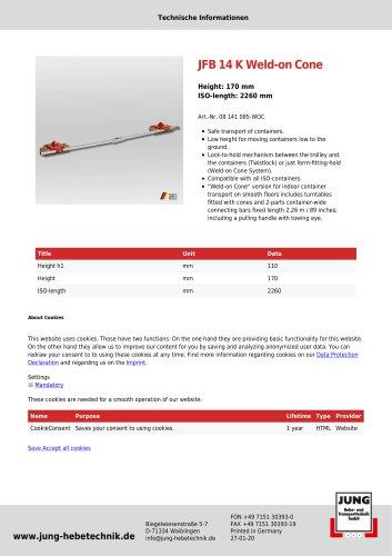 JFB 14 K WOC Product Details