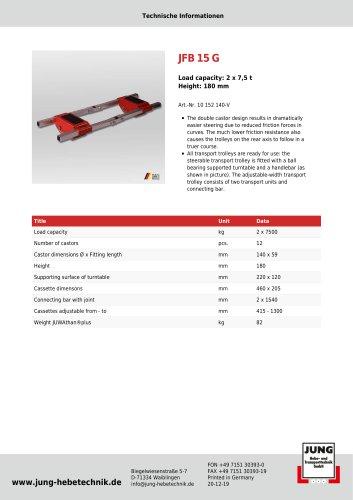 JFB 15 G Product Details