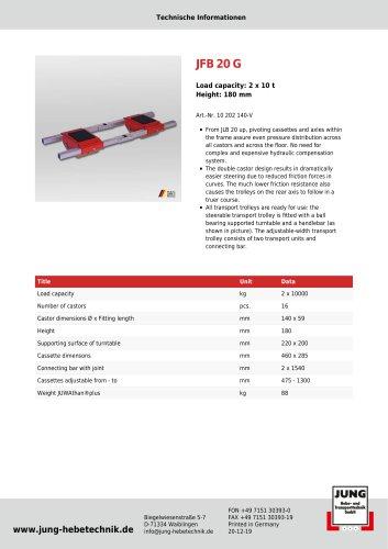 JFB 20 G Product Details