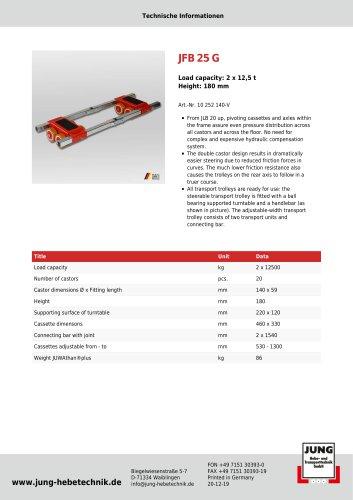 JFB 25 G Product Details