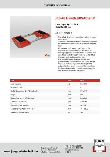 JFB 40 H Product Details