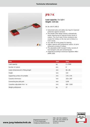 JFB 7 K Product Details