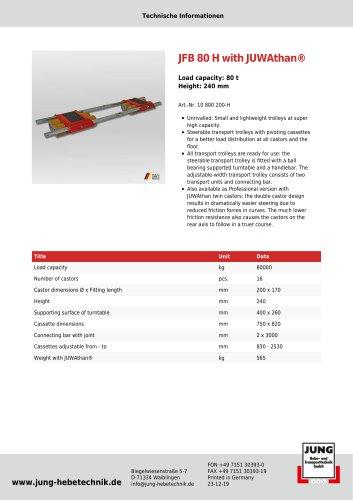 JFB 80 H Product Details
