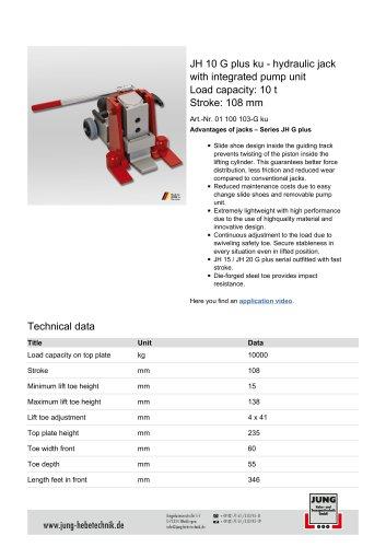 JH 10 G plus ku Product Details