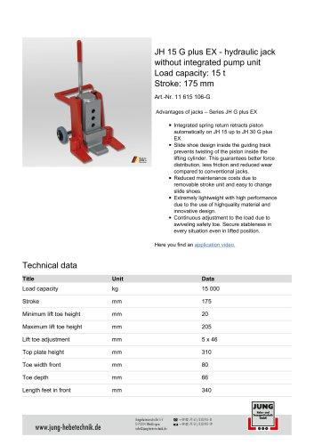 JH 15 G plus EX Product Details