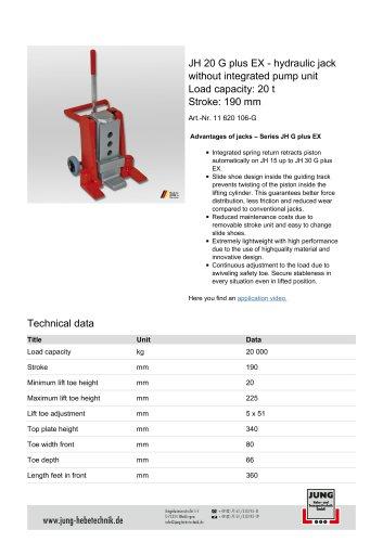 JH 20 G plus EX Product details