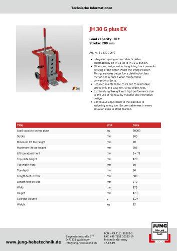 JH 30 G plus EX Product Details