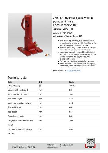 JHS 10 Product Details