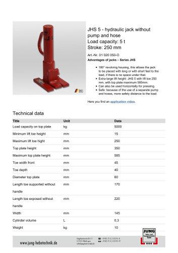 JHS 5 Product Details