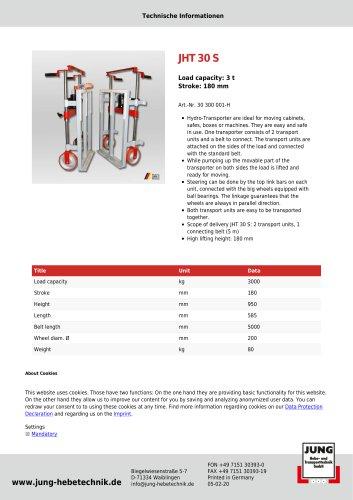 JHT 30 Product Details