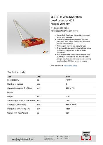 JLB 40 H Product Details