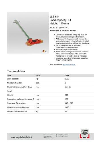 JLB 6 K Product Details